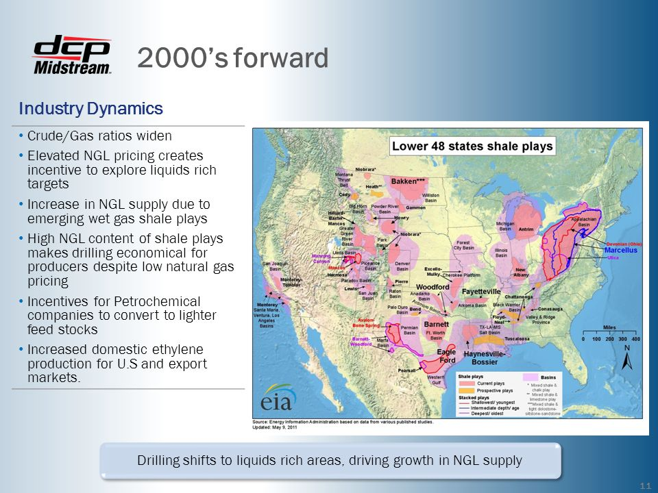 Drilling shifts to liquids rich areas, driving growth in NGL supply