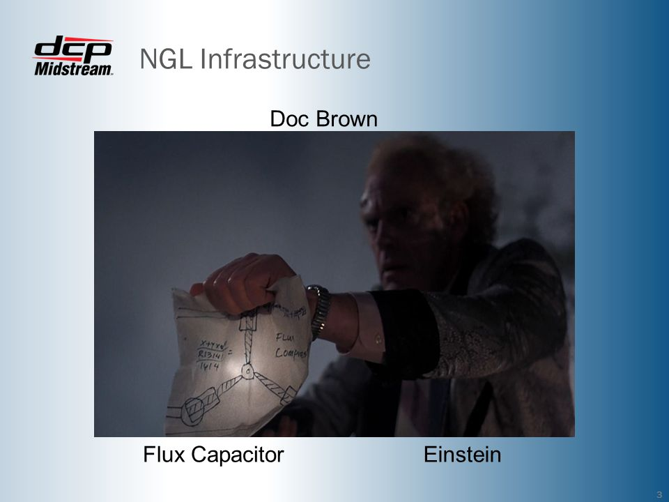 NGL Infrastructure Doc Brown Flux Capacitor Einstein