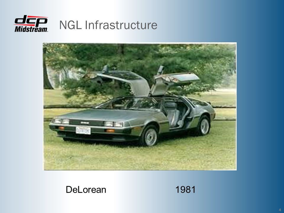 NGL Infrastructure DeLorean 1981