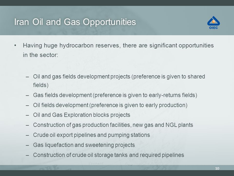 Iran Oil and Gas Opportunities