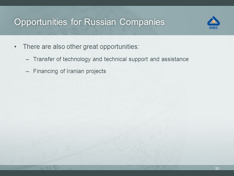 Opportunities for Russian Companies