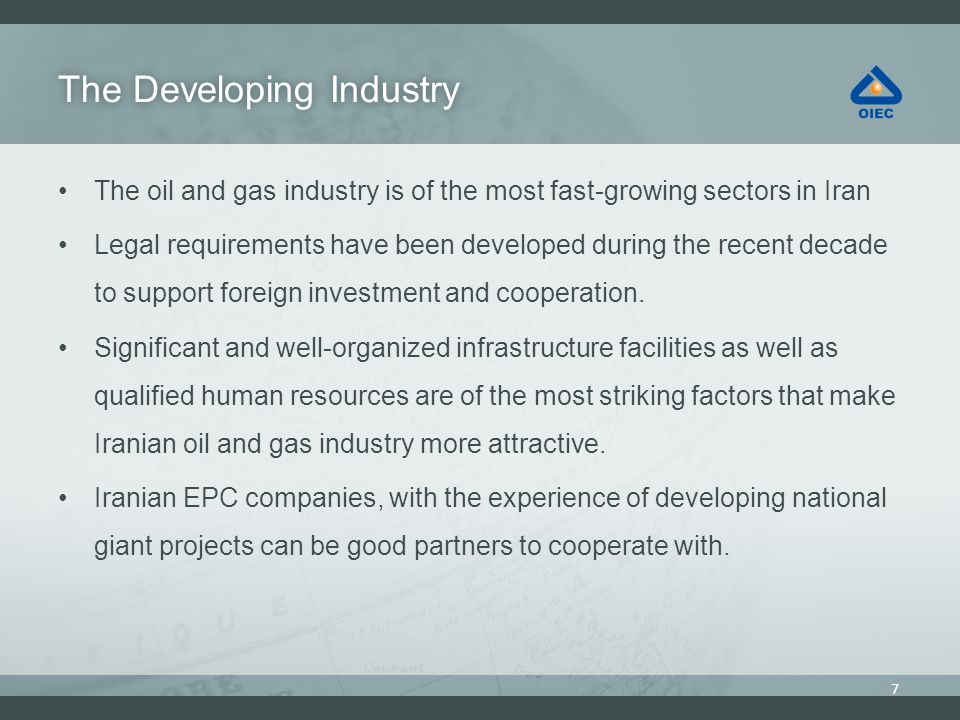 The Developing Industry