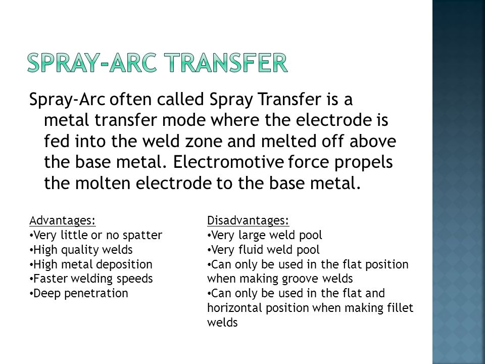 Spray-Arc Transfer