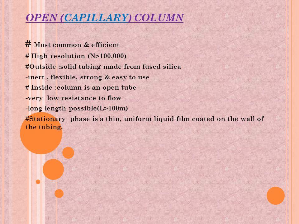 OPEN (CAPILLARY) COLUMN