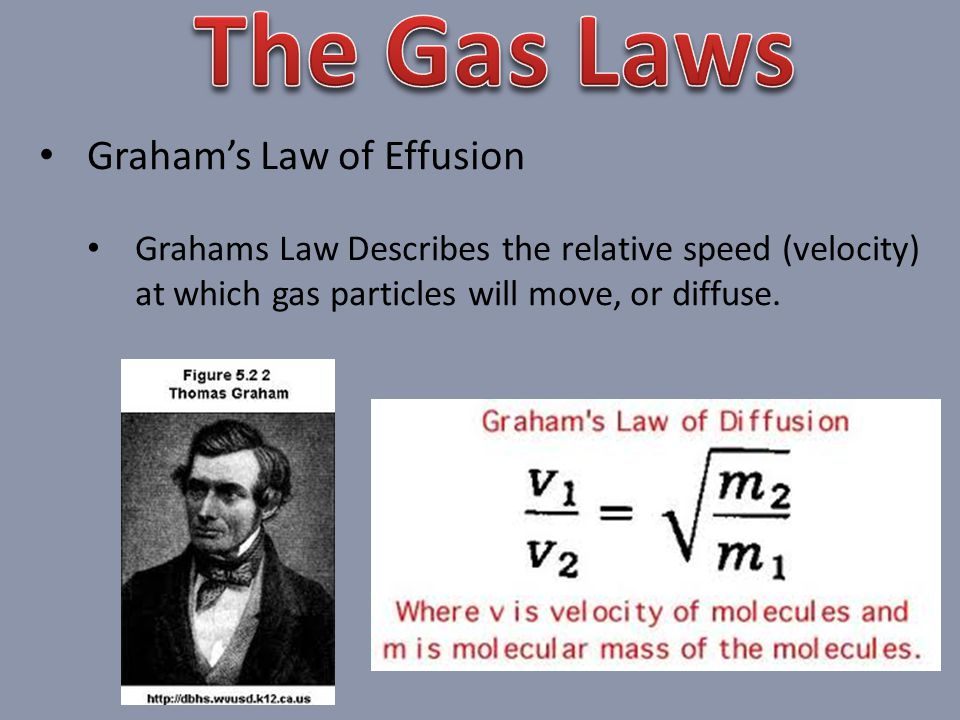 The Gas Laws Graham's Law of Effusion
