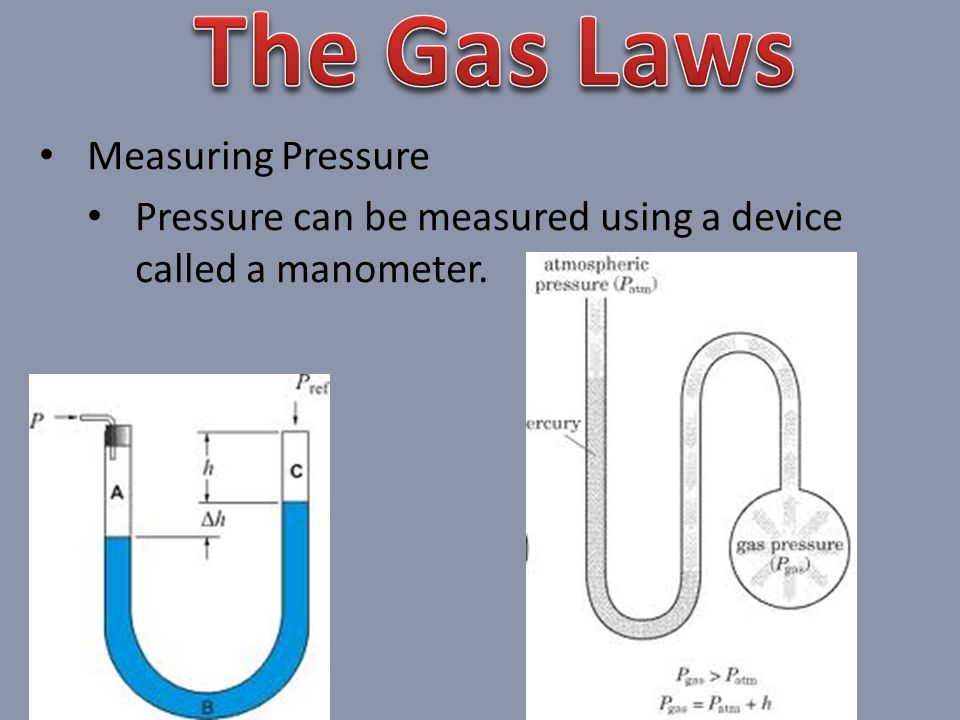 The Gas Laws Measuring Pressure