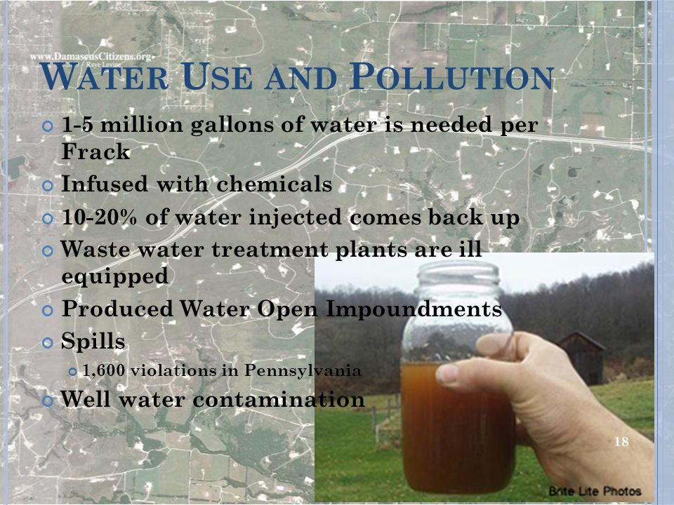 Water Use and Pollution