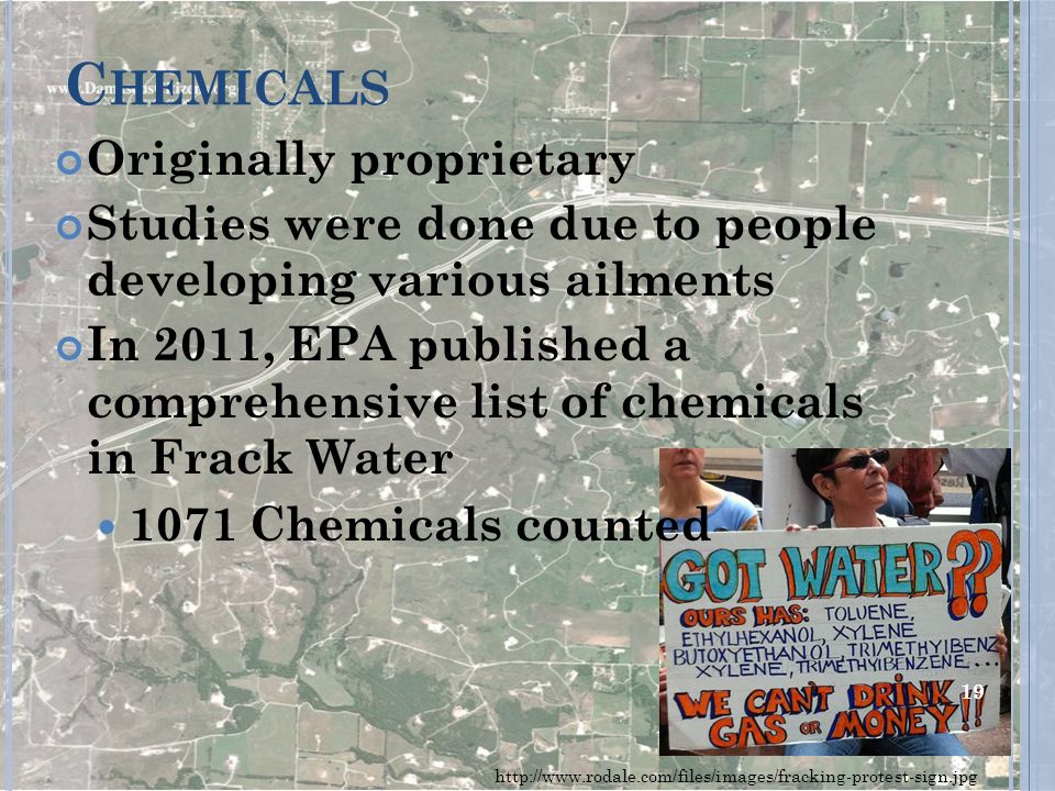 Chemicals Originally proprietary