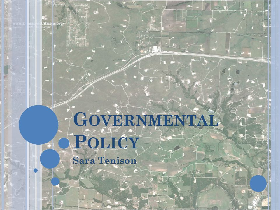 Governmental Policy Sara Tenison