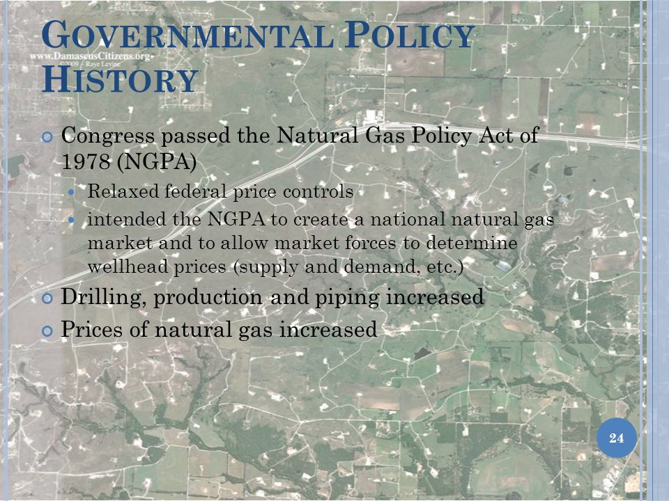 Governmental Policy History