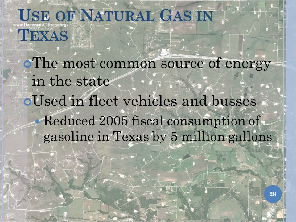 Use of Natural Gas in Texas