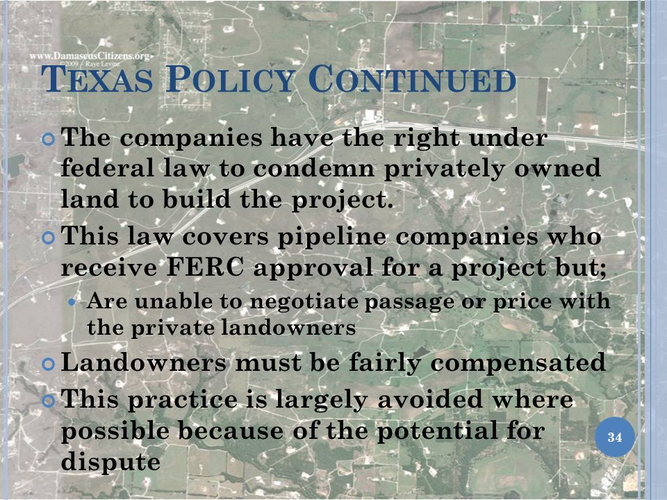 Texas Policy Continued