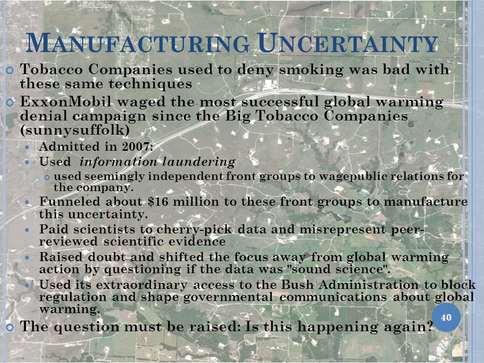Manufacturing Uncertainty