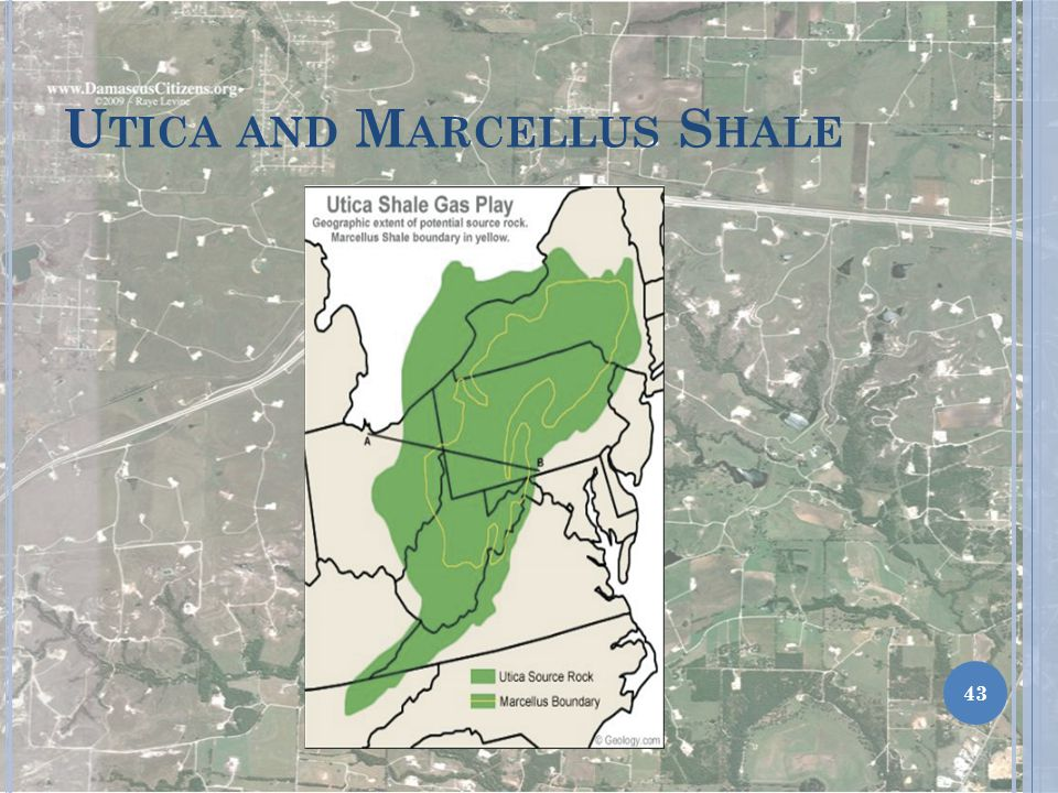 Utica and Marcellus Shale