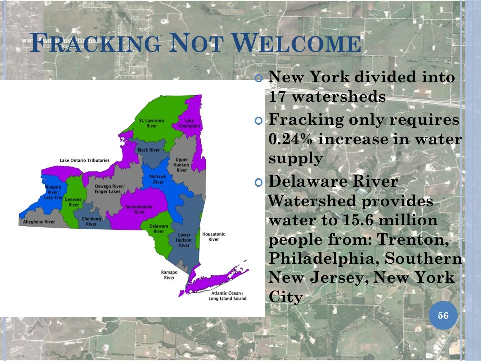 Fracking Not Welcome New York divided into 17 watersheds