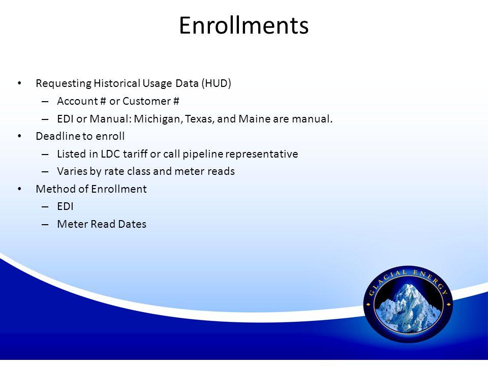 Enrollments Requesting Historical Usage Data (HUD)