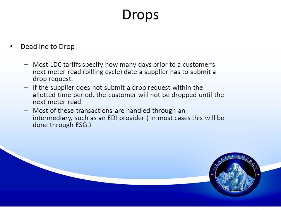 Drops Deadline to Drop.