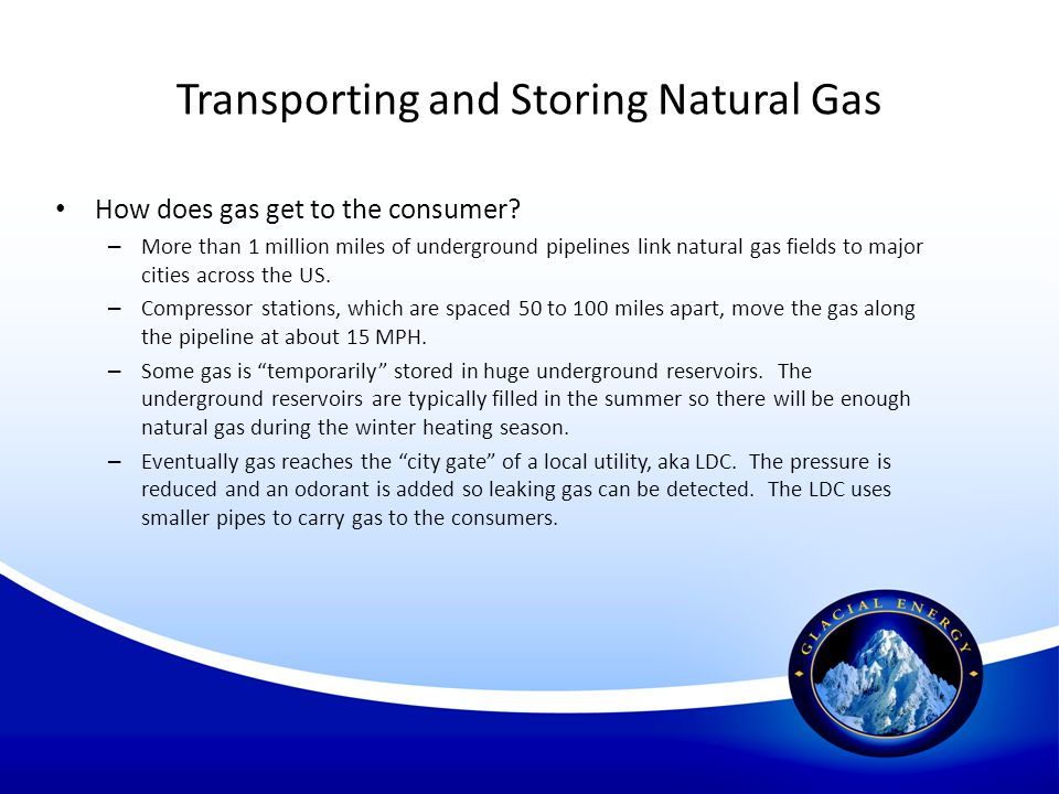 Transporting and Storing Natural Gas