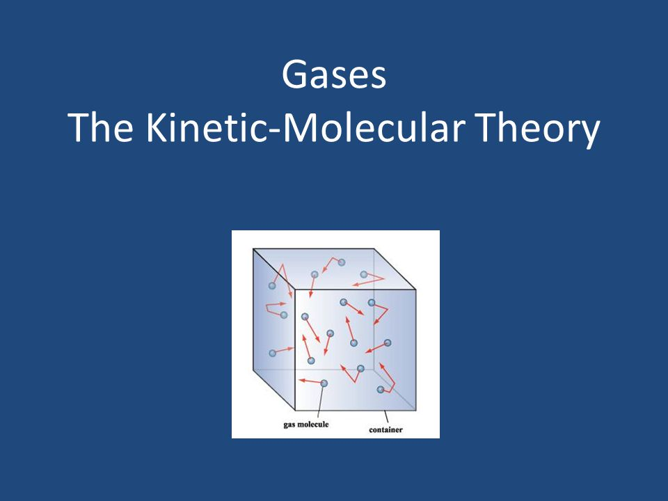 Gases The Kinetic-Molecular Theory