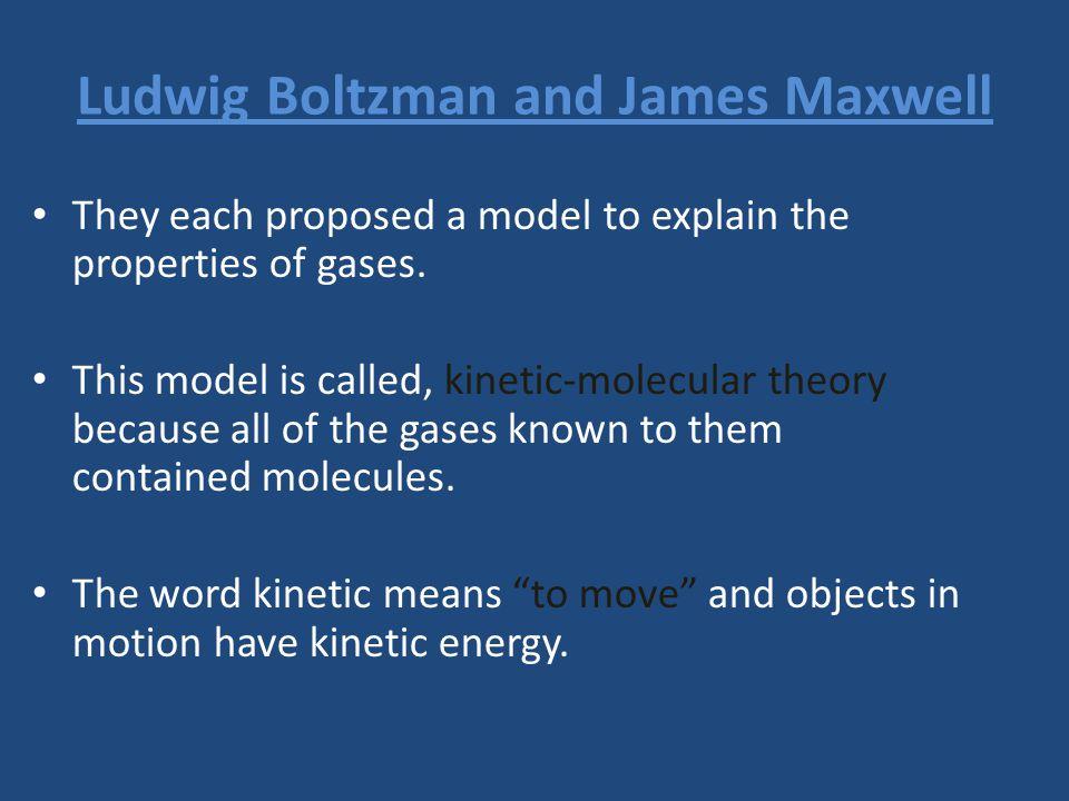 Ludwig Boltzman and James Maxwell