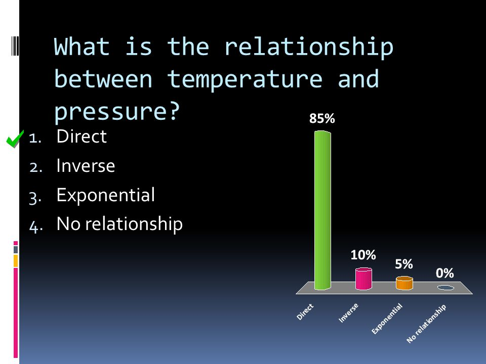 What is the relationship between temperature and pressure