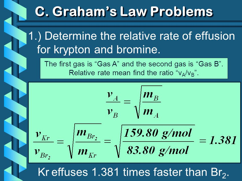 C. Graham's Law Problems