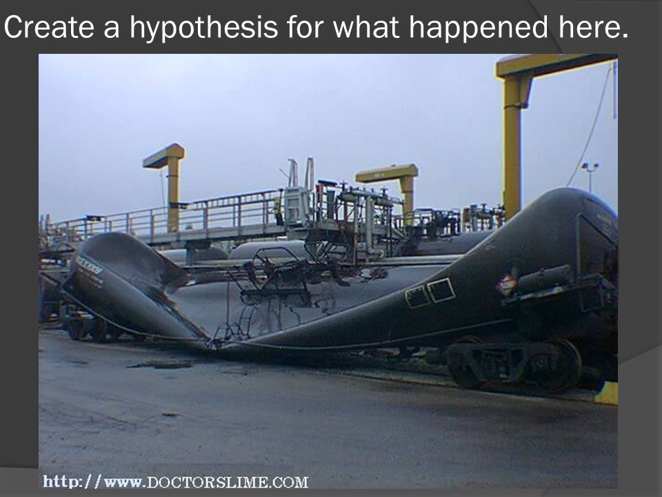 Create a hypothesis for what happened here.