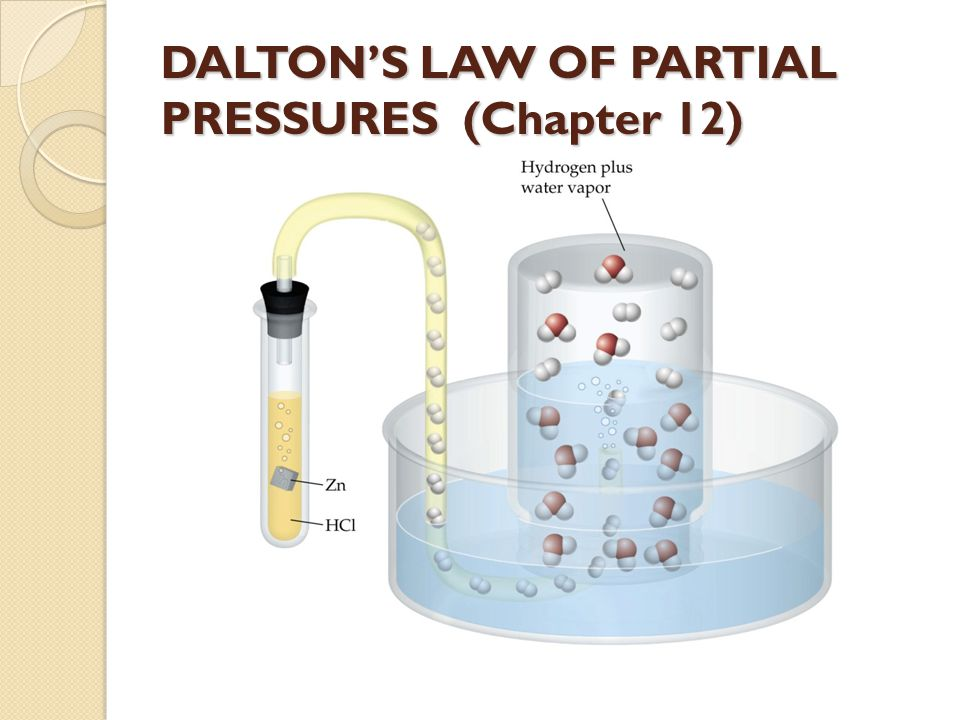 DALTON'S LAW OF PARTIAL PRESSURES (Chapter 12)