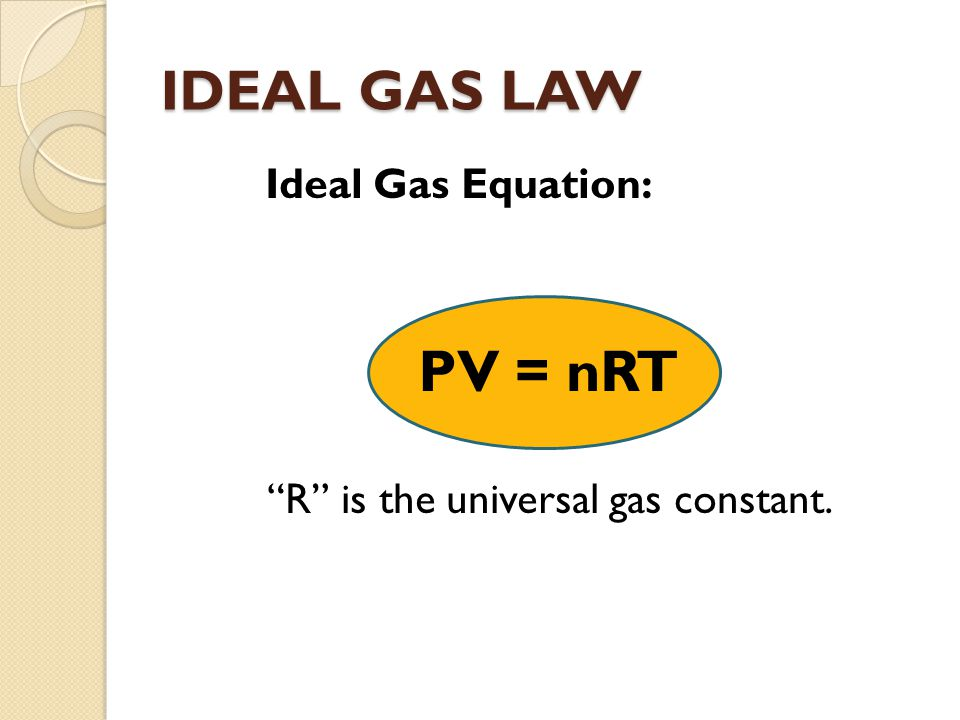 R is the universal gas constant.