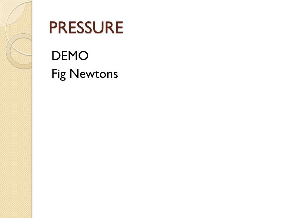 PRESSURE DEMO Fig Newtons
