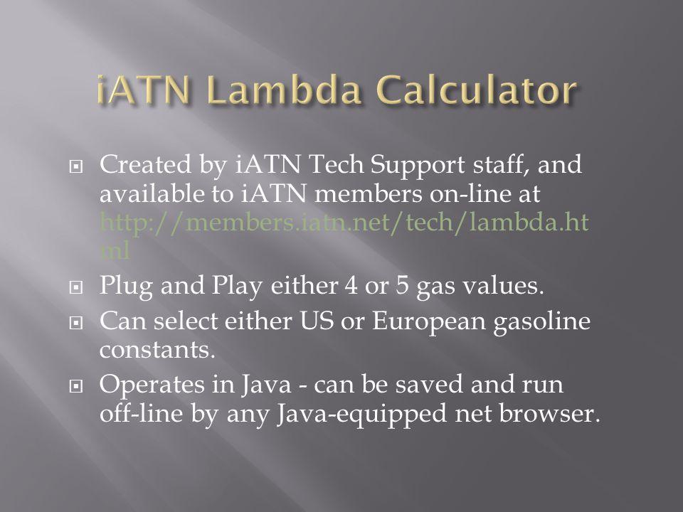 iATN Lambda Calculator