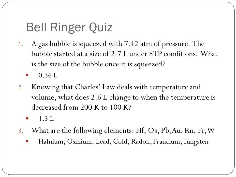 Bell Ringer Quiz