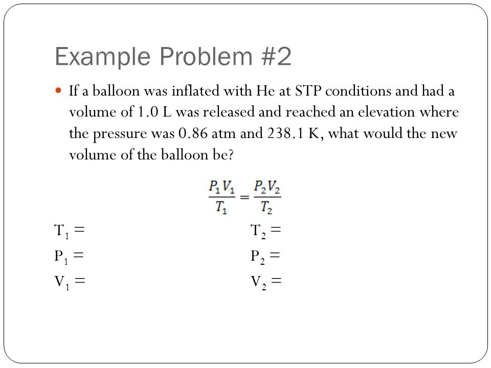 Example Problem #2
