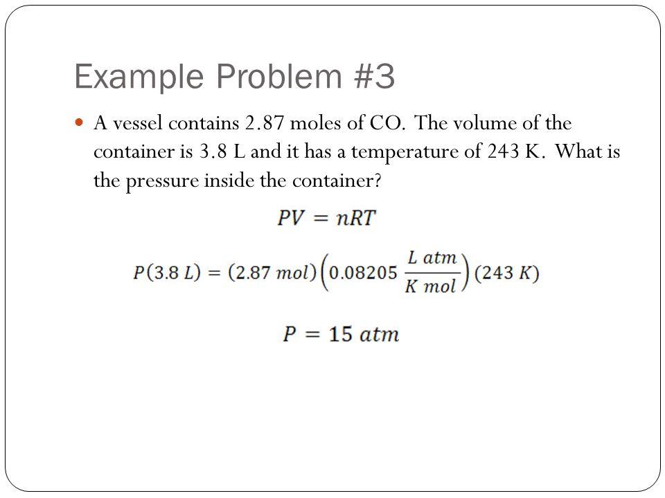 Example Problem #3