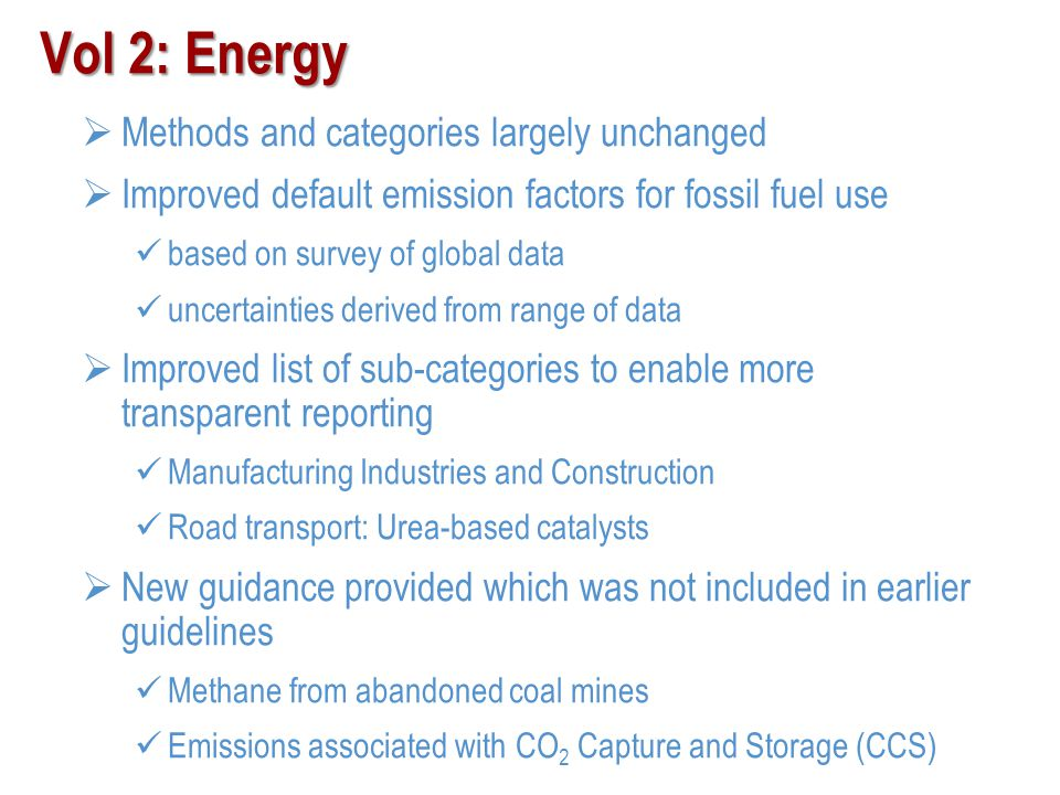 Vol 2: Energy Methods and categories largely unchanged