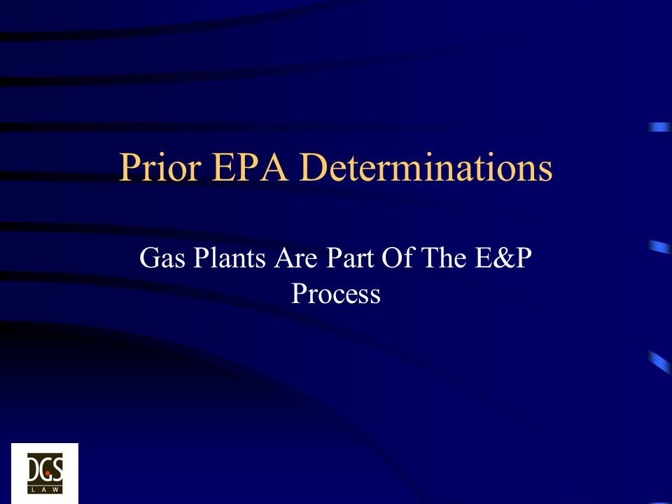 Prior EPA Determinations