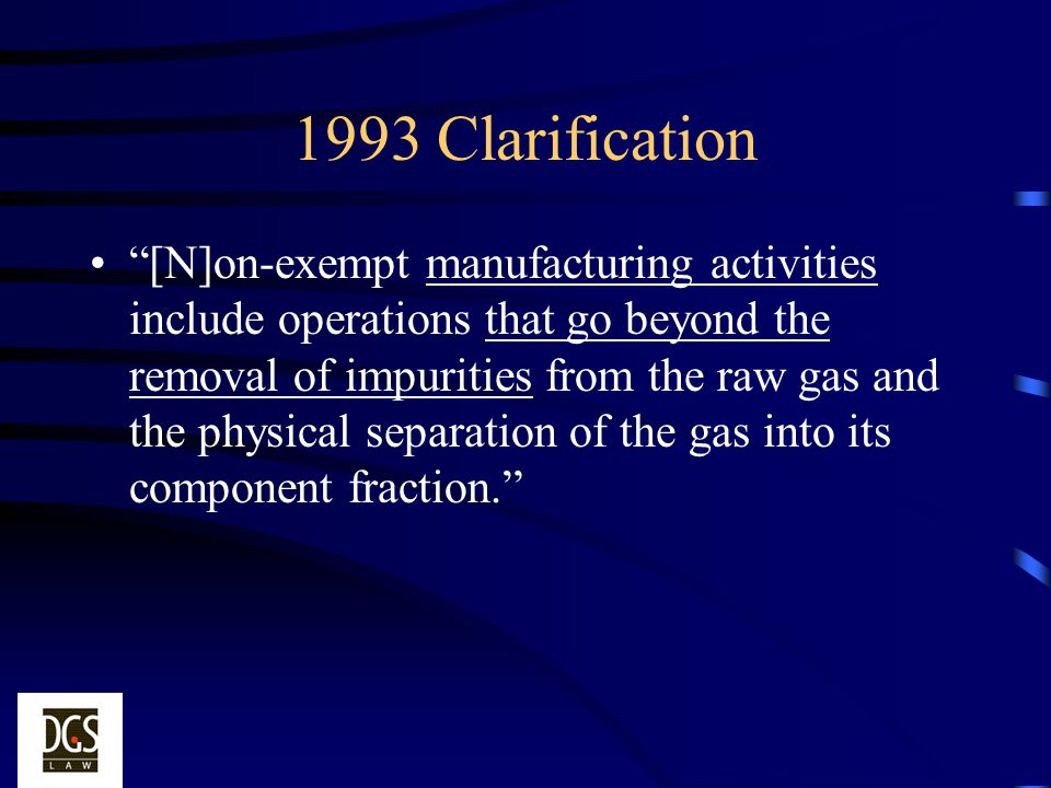 1993 Clarification