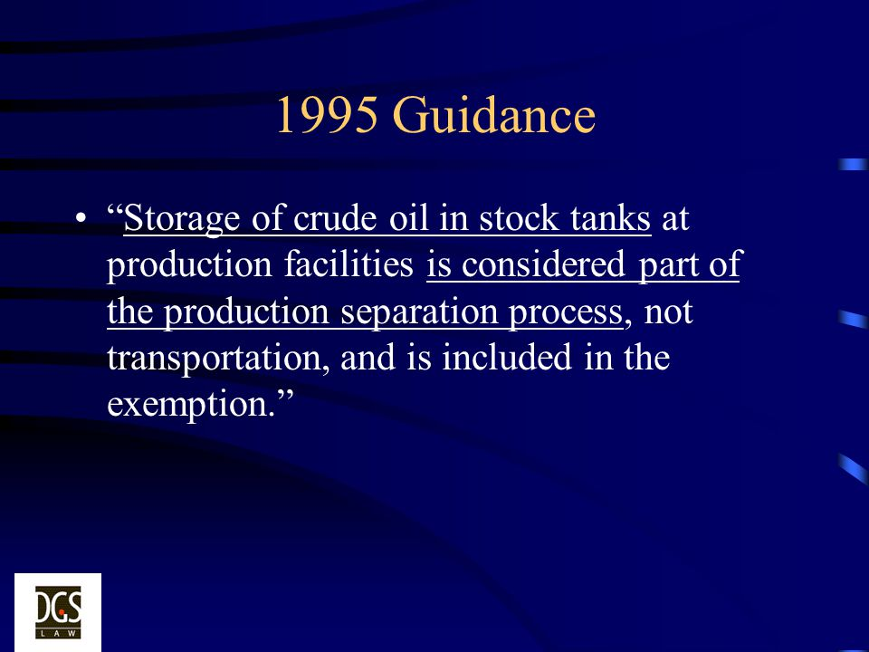 1995 Guidance