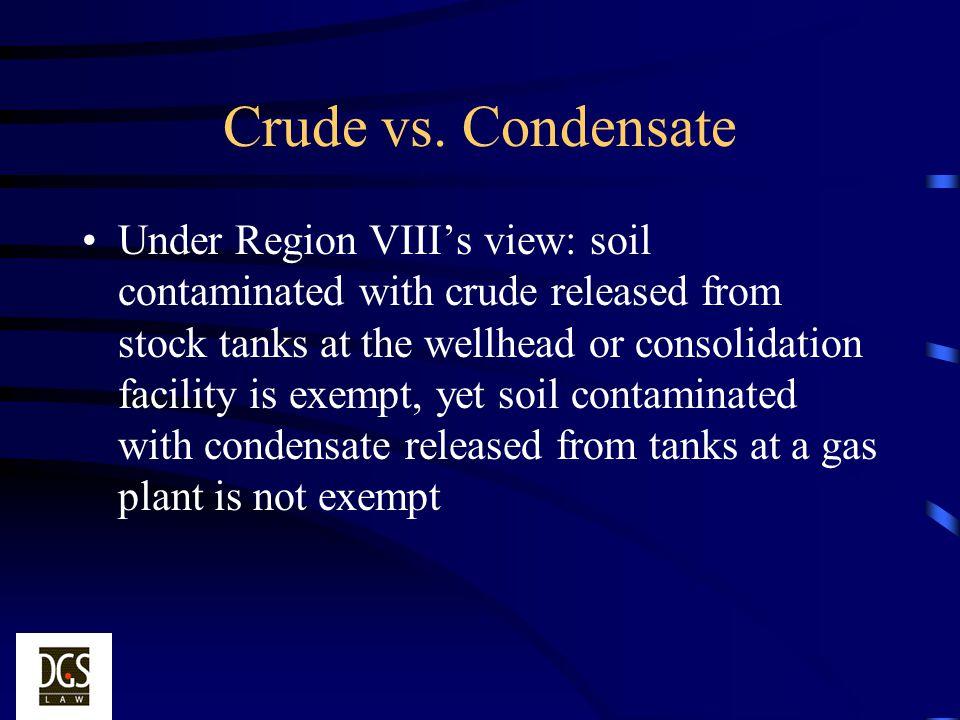 Crude vs. Condensate