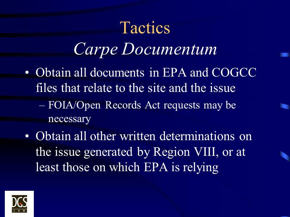 Tactics Carpe Documentum