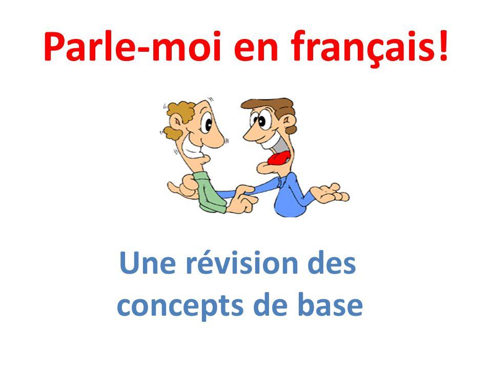 Parle-moi en français! Une révision des concepts de base
