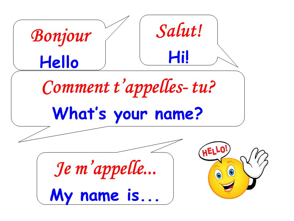 Comment t'appelles- tu