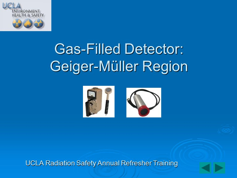 Gas-Filled Detector: Geiger-Müller Region