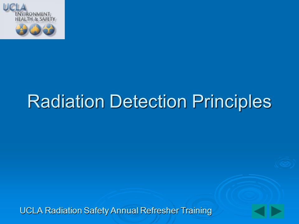 Radiation Detection Principles