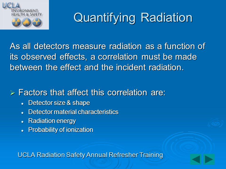 Quantifying Radiation