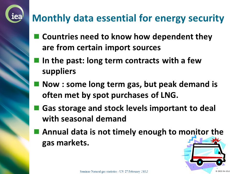 Monthly data essential for energy security