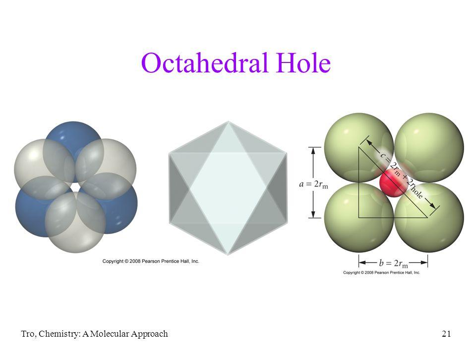 Octahedral Hole Tro, Chemistry: A Molecular Approach