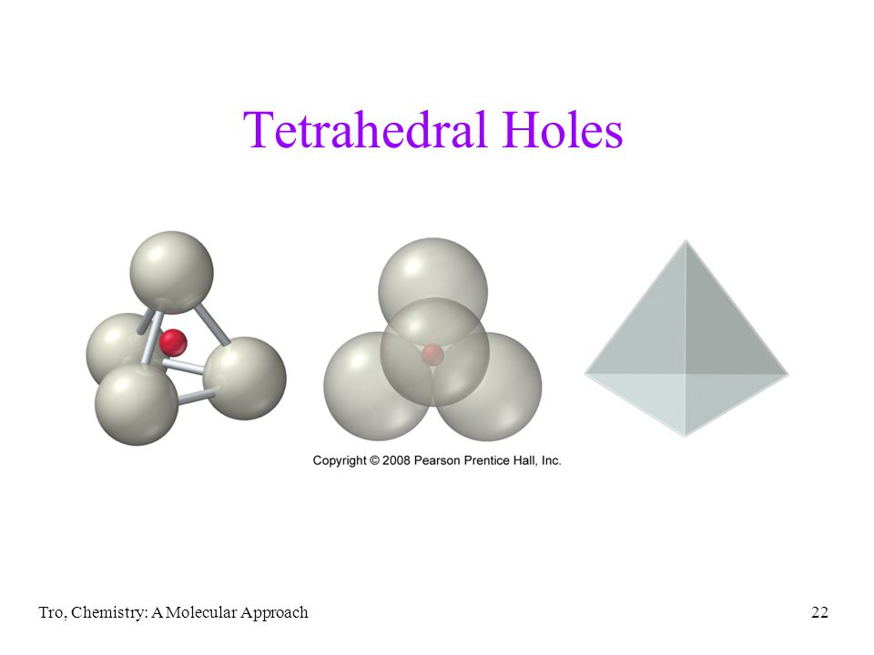 Tetrahedral Holes Tro, Chemistry: A Molecular Approach