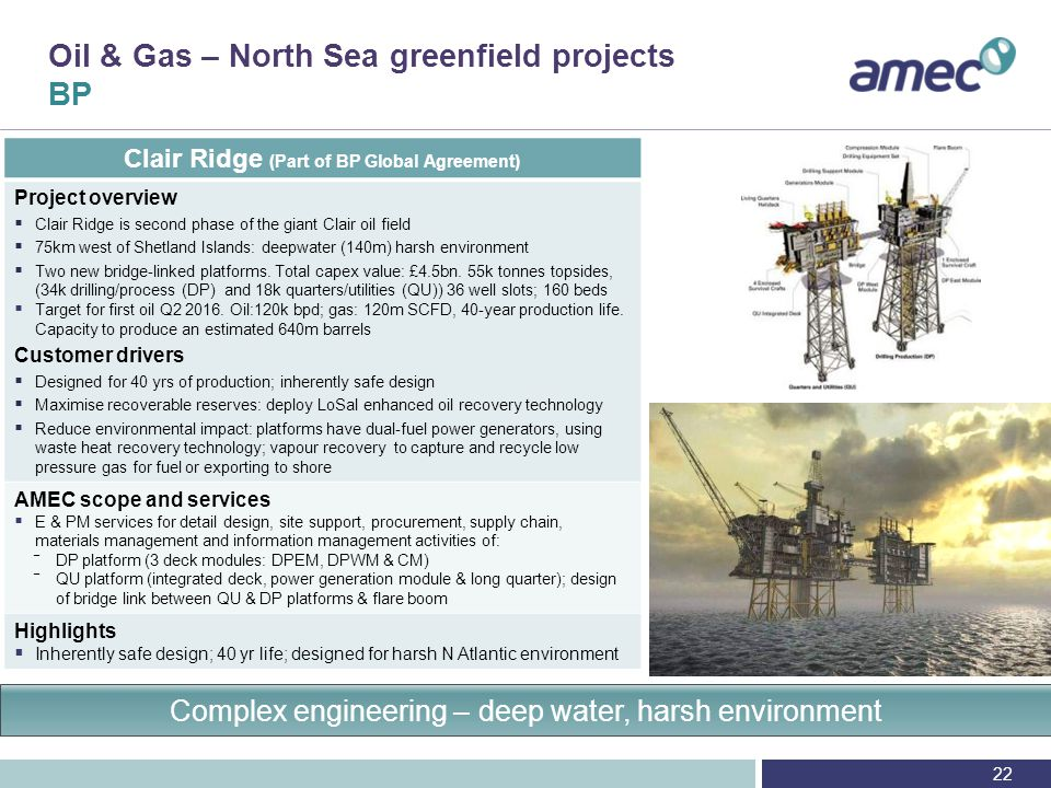 Oil & Gas – North Sea, brownfield