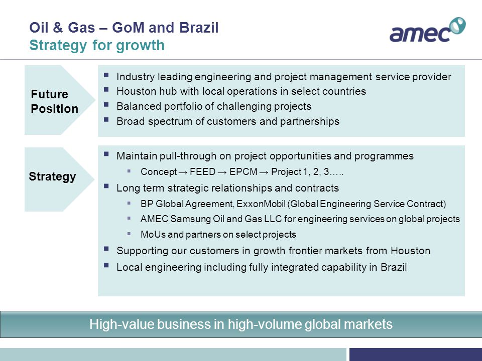Oil & Gas – GoM and Brazil